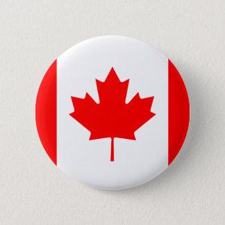 Bóton Redondo 5.08cm Bandeira do botão de Canadá