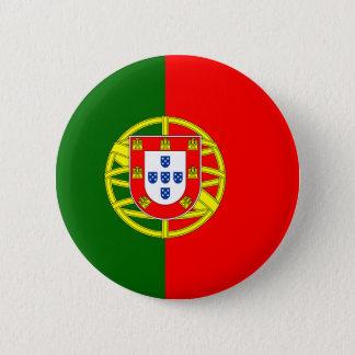 Bóton Redondo 5.08cm Bandeira do botão de Portugal