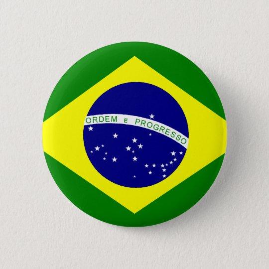 Bóton Redondo 5.08cm Bandeira do Brasil