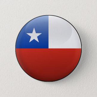 Bóton Redondo 5.08cm Bandeira do Chile