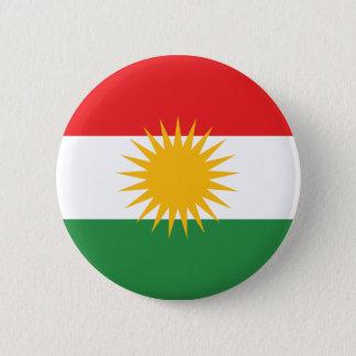 Bóton Redondo 5.08cm Bandeira do Curdistão; Curdo; Curdo