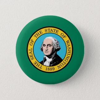 Bóton Redondo 5.08cm Bandeira do estado de Washington