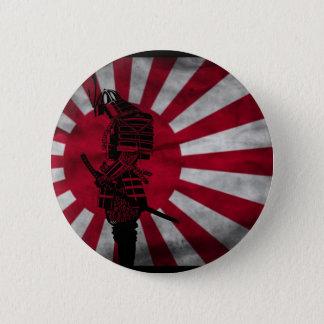 Bóton Redondo 5.08cm Bandeira do japonês do samurai