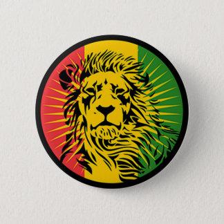Bóton Redondo 5.08cm bandeira do leão da reggae do rasta