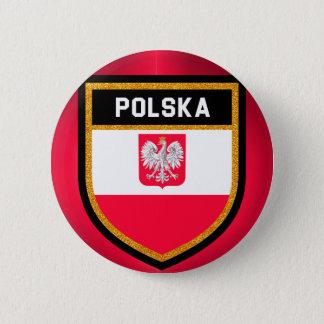 Bóton Redondo 5.08cm Bandeira do Polônia