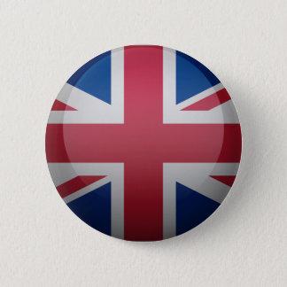 Bóton Redondo 5.08cm Bandeira do Reino Unido