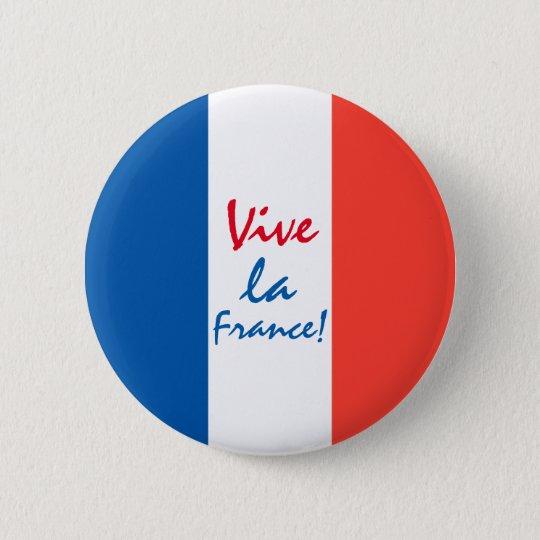 Bóton Redondo 5.08cm Bandeira francesa de France do La de Vive