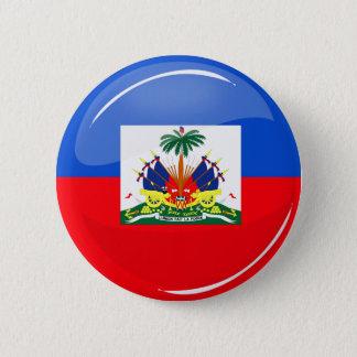 Bóton Redondo 5.08cm Bandeira haitiana redonda lustrosa