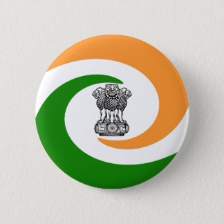 Bóton Redondo 5.08cm Bandeira indiana