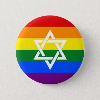 Bóton Redondo 5.08cm Bandeira judaica do orgulho