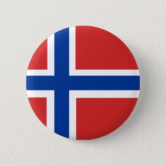 Bóton Redondo 5.08cm Bandeira norueguesa