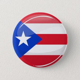 Bóton Redondo 5.08cm Bandeira porto-riquenha redonda lustrosa
