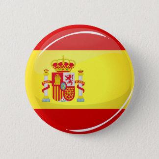 Bóton Redondo 5.08cm Bandeira redonda lustrosa da espanha