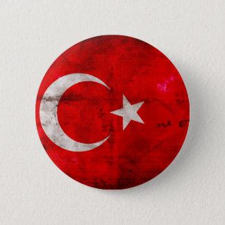 Bóton Redondo 5.08cm Bandeira resistida de Turquia