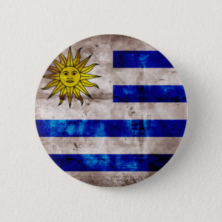 Bóton Redondo 5.08cm Bandeira resistida de Uruguai