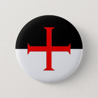 Bóton Redondo 5.08cm Bandeira transversal de Templar dos cavaleiros