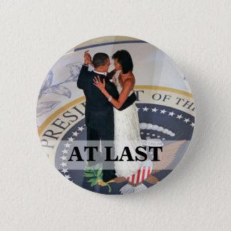 Bóton Redondo 5.08cm Barack e Michelle Obama que dança a bola inaugural
