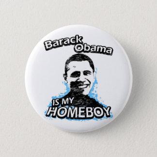 Bóton Redondo 5.08cm Barack Obama é meu ficar em casa