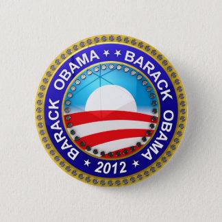 Bóton Redondo 5.08cm Barack Obama para o presidente 2012