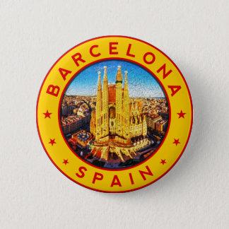 Bóton Redondo 5.08cm Barcelona, Spain, circle, yellow