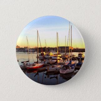 Bóton Redondo 5.08cm Barcos no porto em Oakland, CA
