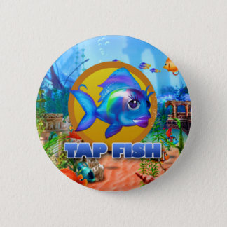 Bóton Redondo 5.08cm Bata o botão dos peixes