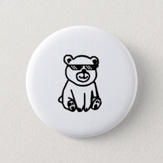 Bóton Redondo 5.08cm bear_glasses_hd_space