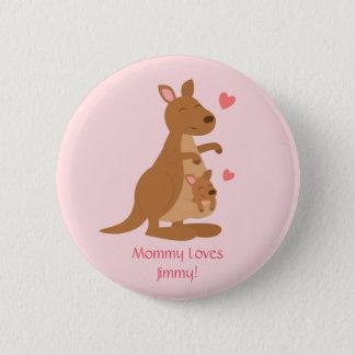Bóton Redondo 5.08cm Bebê bonito Joey do canguru para miúdos