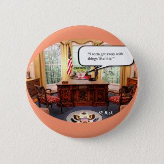 """Bóton Redondo 5.08cm Bebê de Trumpy - escritório oval - 2 1/4"""" botão"""