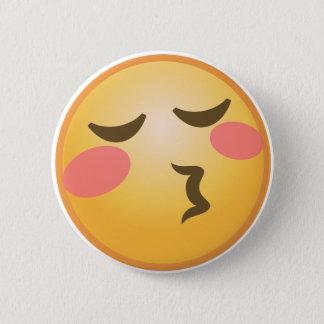 Bóton Redondo 5.08cm Beijando Emoji