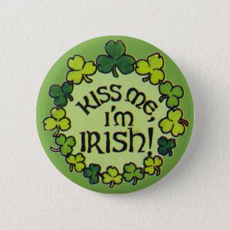 Bóton Redondo 5.08cm Beije-me que eu sou irlandês! - Botão