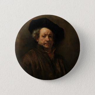 Bóton Redondo 5.08cm Belas artes do retrato de auto de Rembrandt Van