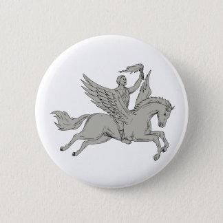 Bóton Redondo 5.08cm Bellerophon que monta Pegasus que guardara o
