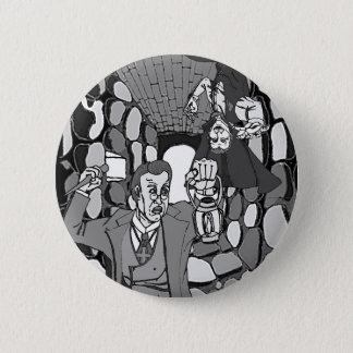 Bóton Redondo 5.08cm Beware o botão de Dracula