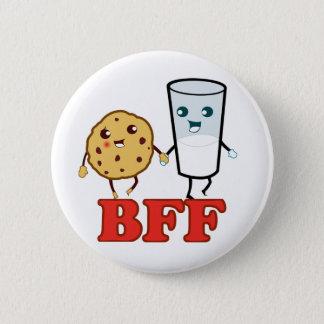 Bóton Redondo 5.08cm BFF, melhores amigos para sempre