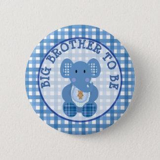 Bóton Redondo 5.08cm Big brother a ser elefante do azul do botão do chá