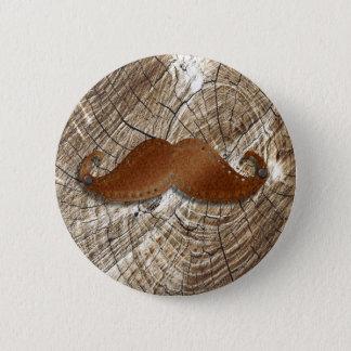 Bóton Redondo 5.08cm Bigode oxidado velho do metal com furos pequenos