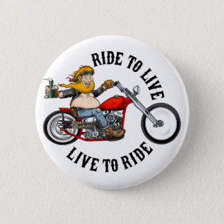 Bóton Redondo 5.08cm biker motard ride to live