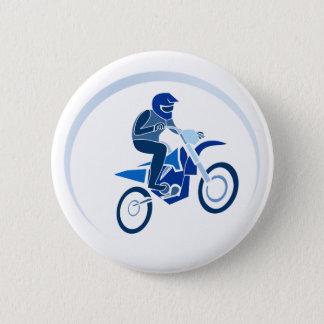 Bóton Redondo 5.08cm Biking do vetor do motociclista da sujeira