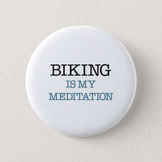 Bóton Redondo 5.08cm Biking é minha meditação