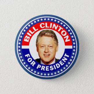 Bóton Redondo 5.08cm Bill Clinton para o presidente
