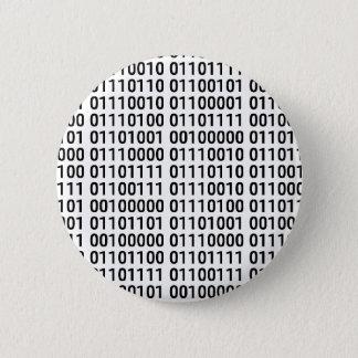 Bóton Redondo 5.08cm Binário: Eu amo programar