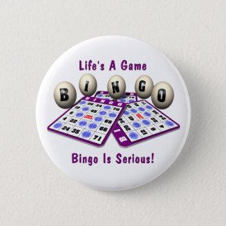 Bóton Redondo 5.08cm Bingo: A vida é um jogo