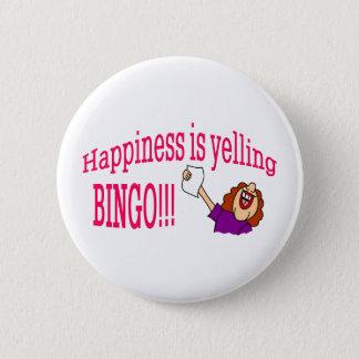 Bóton Redondo 5.08cm Bingo da felicidade