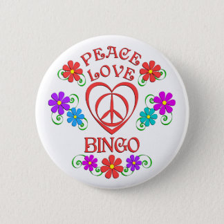 Bóton Redondo 5.08cm Bingo do amor da paz