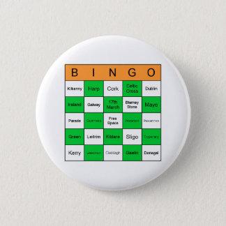 Bóton Redondo 5.08cm Bingo do Dia de São Patrício
