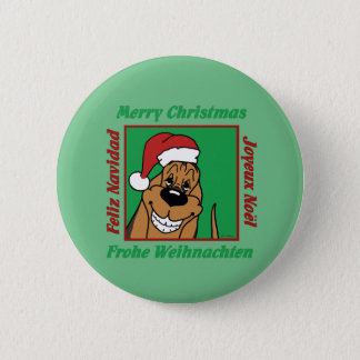 Bóton Redondo 5.08cm Bloodhound Weihnacht