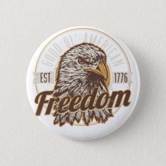 Bóton Redondo 5.08cm Boa liberdade americana de Ol (vintage)