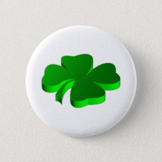 Bóton Redondo 5.08cm Boa sorte do símbolo afortunado do verde do trevo