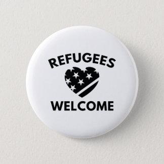 Bóton Redondo 5.08cm Boa vinda dos refugiados